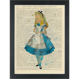 Alice In wonderland Water Color Dictionary Art Print