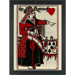 Alice in wonderland The Queen of hearts vintage drawing Dictionary Art Print