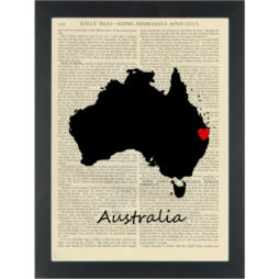 Australia Map Dictionay Art Print
