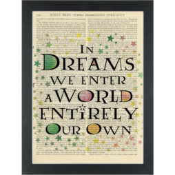 Dream quote nursery childs room Dictionary Art Print
