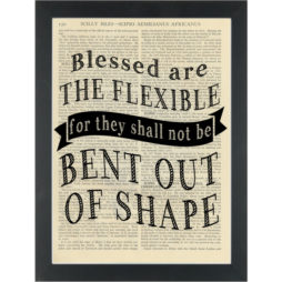 Funny be flexible quote yoga inspirational Dictionary Art Print