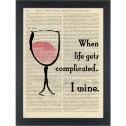 Funny quote about wine Dictionary Art Print