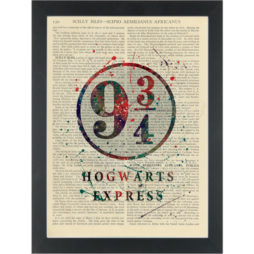 Hogwarts Express Dictionary Art Print