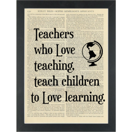 Inspirational quote about teachers Dictionary Art Print