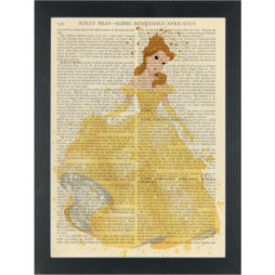 Princess Belle water color Dictionary Art Print