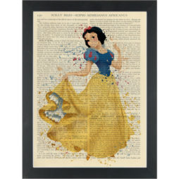 Princess Snowwhite water color Dictionary Art Print