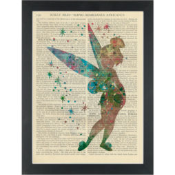 Tinker bell water color Dictionary Art Print