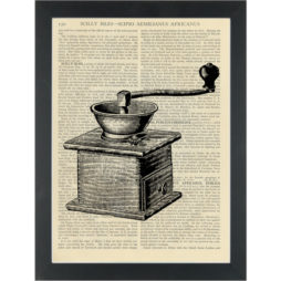 Vinatge Coffee Grinder Drawing Dictionary Art Print