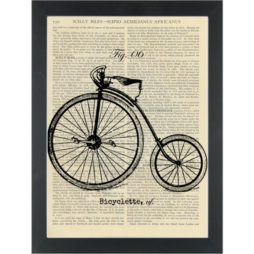 Vintage Bicyclette French Drawing Dictionary Art Print