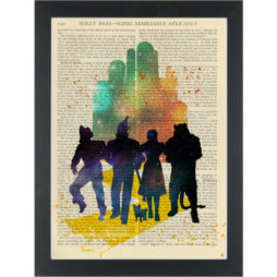 Wizard Of Oz Water Colour Dictionary Art Print