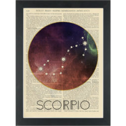 Zodiac SCORPIO Dictionary Art Print