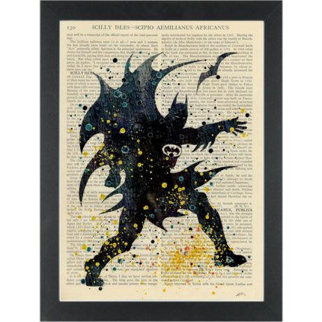 Batman super hero watercolor Dictionary Art Print