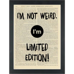 Funny quote Limited Edition Dictionary Art Print