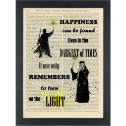 Harry Potter Dumbledor quote _Turn on the light_ Dictionary Art Print