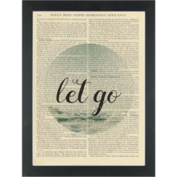 Yoga relax Let Go Dictionary Art Print