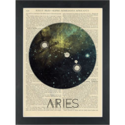 Zodiac Aires constelation Dictionary Art Print