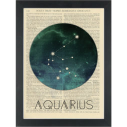 Zodiac Aquarius constelation Dictionary Art Print