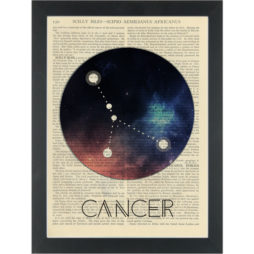 Zodiac Cancer constellation Dictionary Art Print