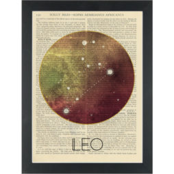 Zodiac Leo constellation Dictionary Art Print