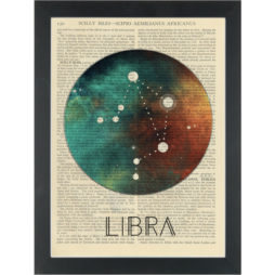 Zodiac Libra constellation Dictionary Art Print