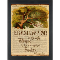 Alice in wonderland Imagination is the only weapon Dictionary Art Print