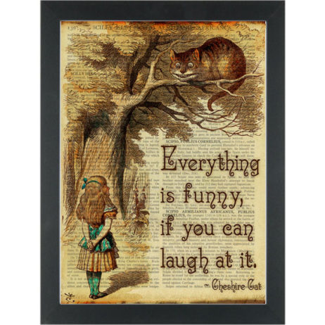 Alice in wonderland Just laugh Dictionary Art Print