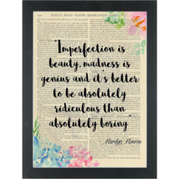 Funny quote Marilyn Monroe Absolutely Ridiculous Dictionary Art Print