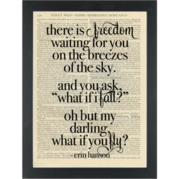 Literary quote Erin Hanson Wings to fly Dictionary Art Print