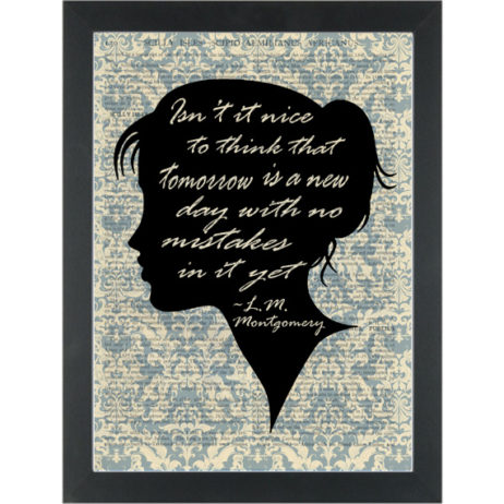 Literary quote Montgomery, Tomorrow with no mistakes Dictionary Art Print