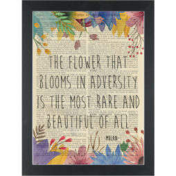 Mulan quote Bloom in adversity Dictionary Art Print