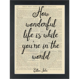 Music Elton John lyrics Wonderful World Dictionary Art Print