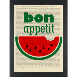 Watermelon Bon Appetit Dictionary Art Print