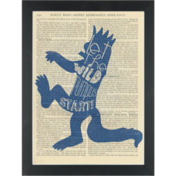 Wild Things wild rumpus nursery Dictionary Art Print