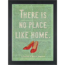 Wizard of Oz No place like home Dictionary Art Print