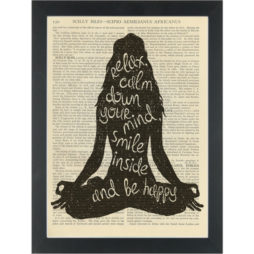 Yoga inspire relax breath Dictionary Art Print