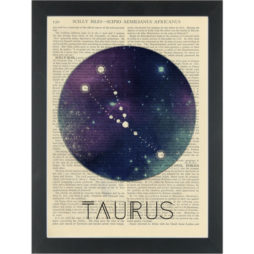 Zodiac Taurus constellation Dictionary Art Print