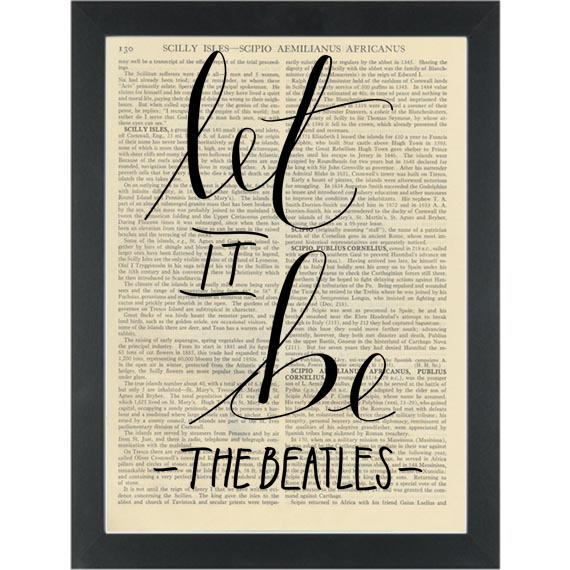 Beatles lyrics Let It Be Dictionary Art Print | PAGE TURNER